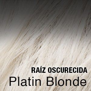 platinblonde raíz oscura