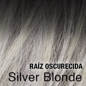 silver blonde raíz oscura